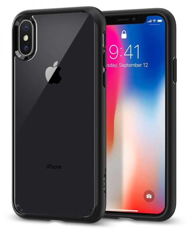 Spigen Ultra Hybrid iPhone X Case with Air Cushion Technology and Hybrid Drop Protection for Apple iPhone X