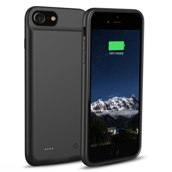 iPhone 8:7:6s:6 Battery Case Support Lightning Wired Headphones, OSSKY 3000mAh Slim Rechargeable Charging Case Portable External Charger Power Case 1