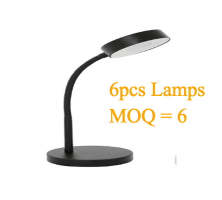Wholesale(Min 6pcs) MaxLite LED Desk Lamp,Office Desk with Flexible Neck, Green Energy Saving, Modern Style (Black) (6 pcs)