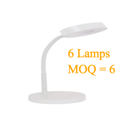 Wholesale(Min 6pcs) MaxLite LED Desk Lamp,Office Desk with Flexible Neck, Green Energy Saving, Modern Style (White) (6 pcs)