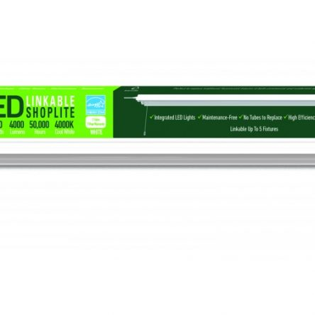 GreenLite LED Shop light for garages,4FT 2400LM,23W 4000K Daylight White,LED ceiling light,  With Pull Chain (ON/OFF)