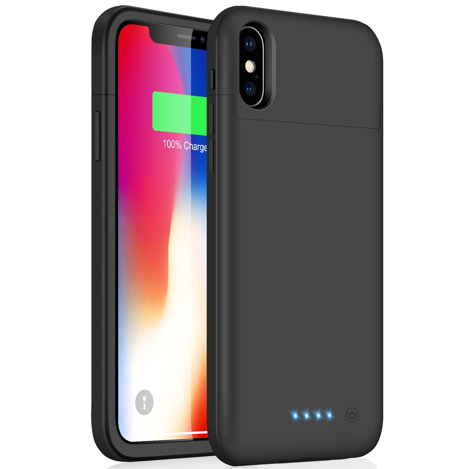 best service 306e4 faaa4 iZam iPhone X/XS Battery Case, 5200mAh Rechargeable Portable, iZam Power  Charging Case for iPhone X/XS Case Ultra Thin and light weight (Black)