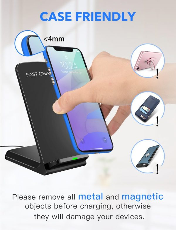 iPhone and Samsung Wireless Charger Charging Pad Stand for All Samsung Galaxy S9/S9 Plus Note 8/5 S8/S8 Plus S7/S7 Edge S6 Edge Plus