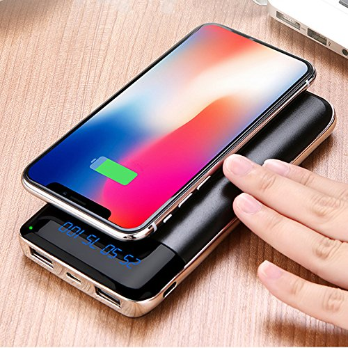 iPhone and android Wireless Charger Power Bank,iZam 20000mAh External Battery Charging Pack Portable Charger Battery Pack Portable Charger for all smart phones iPhone X,iPhone 8,Samsung Galaxy S9/S8/S7 Note 8