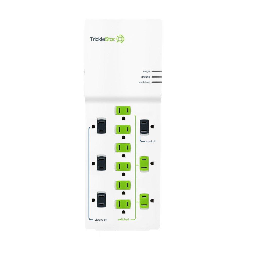 tricklestar 12 outlet advanced power strip  1080j  4 foot cord surge protection  12pcs