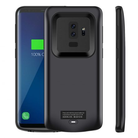 Galaxy S9/S9 Plus Battery Case, iZamZam 5200mAh Slim Portable Extend Battery Pack Charger Case, Rechargeable Charging Case for Samsung Galaxy S9/S9 Plus(Black)